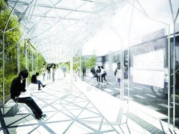 Pour obtenir des solutions originales pour cet abribus, le Fonds Belval a fait appel à l'imagination des étudiants en architecture et en design. ((Photo: Fonds Belval))