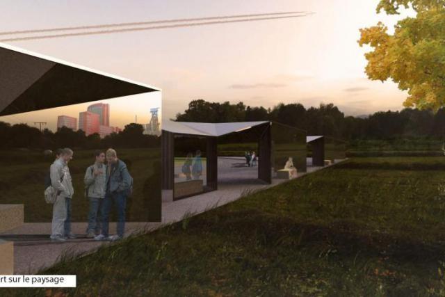 Pour obtenir des solutions originales pour cet abribus, le Fonds Belval a fait appel à l'imagination des étudiants en architecture et en design. (Photo: Fonds Belval)