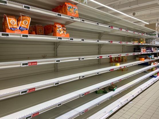 Après le rush, le calme semble être revenu dans les supermarché. (Photo: Paperjam)