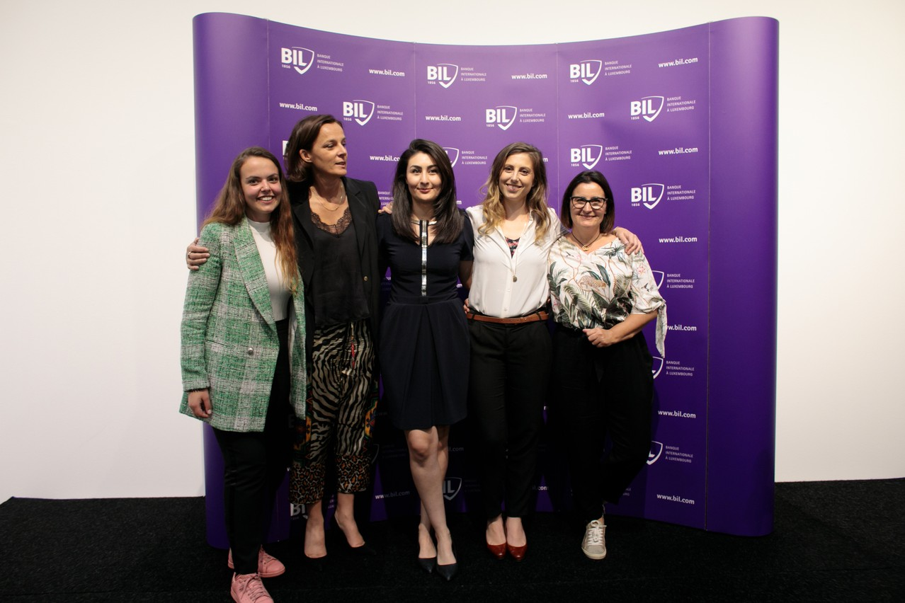 Ilana Devillers (Food4All),Stéphanie Jauquet (Cocottes), Aida Nazarikhorram (LuxAI) ,Elfy Pins (Supermiro) et Karine Vallière (Jumpbox). (Photo: Matic Zorman)