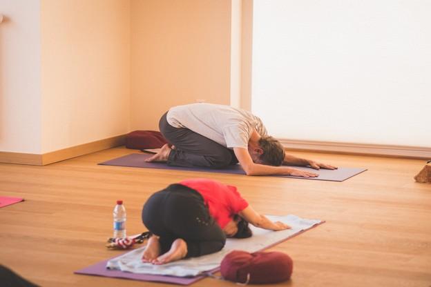 Grâce aux nouvelles technologies, les cours de yoga peuvent continuer, à domicile. (Photo: Arthur Ranzy/archives Maison Moderne)