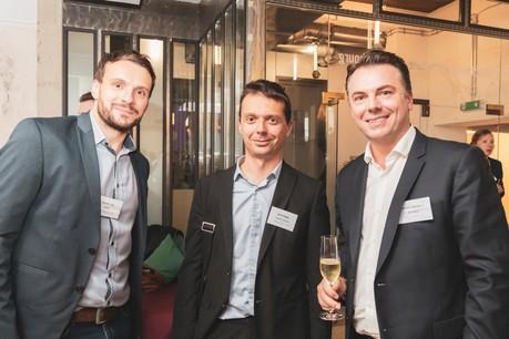 Romain Joly (Smile) à gauche, David Magny (Cardif Lux Vie) au milieu et William Bailhache (Alfresco) (Photo: Patricia Pitsch/Maison Moderne)